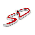 SD Mini Cooper John Cooper Works Emblem Badge Sticker Decal Metal, Red