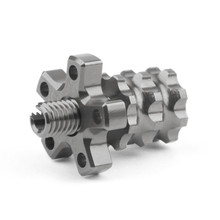 Universal 8mm Anodized Billet Aluminum Clutch Cable Adjuster Set, Gunmetal