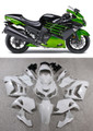 Fairings Plastics Kawasaki ZX14R Ninja Green Black Racing (2012-2015)