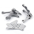 Front Footpegs Footrests Brackets Set Kawasaki ZX6R 636 (2005-2008) 35063-0419-458, 35063-0160, 55020-0134, 55020-0135, 34028-0059, 34028-0060