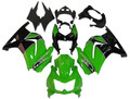 Fairings Kawasaki ZX250R EX250 Green Black Ninja ZX250 Racing (2008-2012)