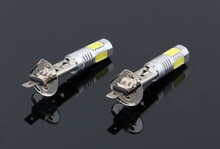 2 x High Power Xenon White LED Bulb 7.5W Fog Driving Lights Bulb Lamp 6500K H1