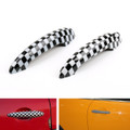 Checkered Pattern Design Door Handle Cover Mini Cooper R50 R52 R53 R55 R56