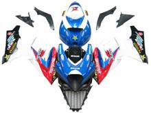 Fairings Suzuki GSXR 1000 Blue Red White Makita Racing  (2007-2008)