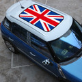 Checkered Union Jack Sun Roof Decal Stickers Graphic Mini Cooper R55 R56, Blue
