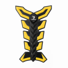 3D Rubber Tank Pad Protector for Motorcycles - Yellow (Pad-B1-M-Yellow)