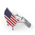 3D Metal Front Grille Grill Badge Emblem Decals Hood car Flag USA United States