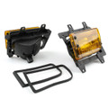 Front Bumper Fog Lights Plastic Lens Kit BMW E30 3-Series Sedan (85-93) Yellow