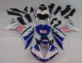 Fairings Yamaha YZF-R1 Whit Blue FIAT  R1 Racing (2009-2012)