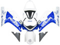 Fairings Suzuki GSXR 600 White Blue Jordan GSXR Racing  (2001-2003)