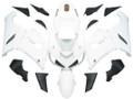 Fairings Kawasaki ZX6R 636 White ZX6R Ninja Racing  (2005-2006)