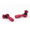 Tire Valves Angled CNC Anodize Aluminum Wheel Air Stem 2/Pack, Red