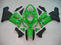 Fairings Kawasaki ZX6R 636 Green Black Ninja  Racing  (2005-2006)