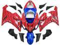 Fairings Kawasaki ZX6R 636 Red & Blue Spider Man Racing  (2005-2006)