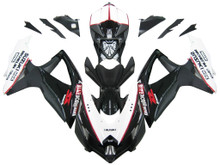 Fairings Suzuki GSXR 600 750 Black White GSXR Racing  (2008-2009-2010)