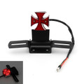 Motorcycle Quad ATV Cross Brake Stop Red License Plate LED Rear Tail Light K