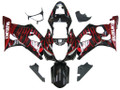 Fairings Suzuki GSXR 600 750 Black & Red Flame GSXR Racing  (2004-2005)