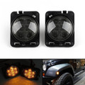 Front Fender Parking Side Marker LED Light Jeep Wrangler JK (07-17) Smoke