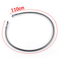 "43"" 110cm Brake Line Oil Hose Banjo Fitting Stainless Steel End"