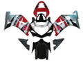 Fairings Suzuki GSXR 600 Silver Red Black GSXR Racing  (2001-2003)