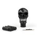 Universal Resin Manual Operation Car Truck Gear Shift Knob Skull Head Black