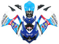 Fairings Suzuki GSXR 600 750 Blue Rockstar Malkita Racing  (2008-2009-2010)