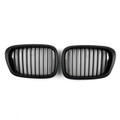 Matte Black Kidney Grille ABS Matt Mesh BMW 5-Series E39 (2001-2004)