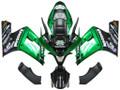 Fairings Kawasaki ZX6R 636 Green Black elf  Racing  (2003-2004)