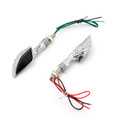 Skeleton Hand Arm LED Indicators Turn Signals Universal Fit Custom Chopper, Chrome Smoke Lens