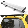 Universal Hatch Adjustable Aluminum GT Rear Trunk Wing Racing Spoiler, Silver 15