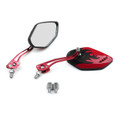 8MM 10MM Universal CNC Machined Mirrors Diamond Flame Red