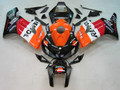 Fairings Honda CBR 1000 RR Black Orange Repsol Racing (2004-2005)