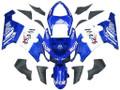 Fairings Kawasaki ZX6R 636 Blue White West  Racing  (2005-2006)