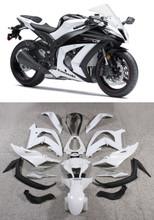 Fairings Plastics Kawasaki ZX10R Ninja White ZX10R Racing (2011-2014)