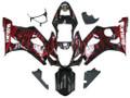 Fairings Suzuki GSXR 1000 Black & Red Flame Suzuki Racing  (2003-2004)