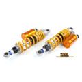 """330mm 13"""" Adjustable Rear Shock Absorbers Honda CB400 CB400 VTEC Pair Gold"""