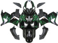 Fairings Kawasaki ZX14R Black & Green Flame Ninja ZX14R Racing (2006-2011)
