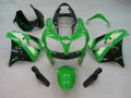 Fairings Kawasaki ZX 9R Green Black ZX9R Racing  (2000-2001)