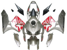 Fairings Honda CBR 600 RR Silver & Red Tribal Racing (2005-2006)