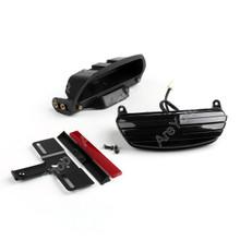Tri-Bar Fender LED Tail Light Bracket Harley FXST FXSTB FXSTC Softail, Black