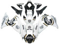 Fairings Suzuki GSXR 1000 White Black Gold Lucky Strike Racing  (2009-2012)