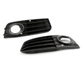 2Pcs Front Fog Light Grill Grille Cover Audi A4 B8 A4L (2009-2011) Black