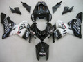 Fairings Kawasaki ZX 10R Black White West Ninja Racing (2004-2005)