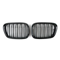 Kidney Grille Double Rib BMW E39 5 Series (2001-2004) Gloss Black