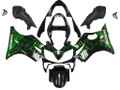Fairings Honda CBR 600 F4i Black & Green Flame Racing (2001-2003)