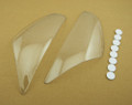 Headlight Lens Shield Cover for Kawasaki ZX 6R (2005-2006) Clear