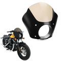 Windshield Windscreen Deep Cut Beveled Harley Dyna FXD Sportser 883 XL1200 Street XG, Gloss Black