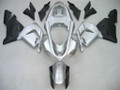 Fairings Kawasaki ZX 10R Silver Black Ninja Racing (2004-2005)