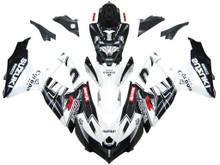 Fairings Suzuki GSXR 600 750 Black White Alstare Corona Racing  (2008-2009-2010)