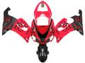 Fairings Kawasaki ZX6R 636 Red & Black Flame Ninja Racing  (2005-2006)